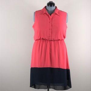 EN Focus Women 20W peach high low summer dress